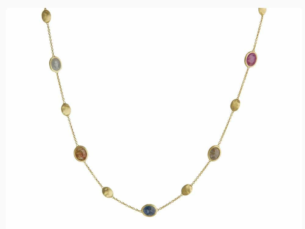 Siviglia Multi Coloured Sapphire Short Necklace