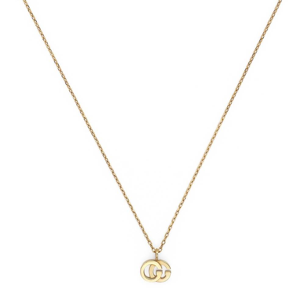 Gucci GG Running Necklace in 18k Yellow Gold with 1 Blue Topaz - Orsini Jewellers NZ