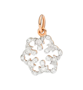 DoDo Snowflake in 9k rose gold with Diamonds