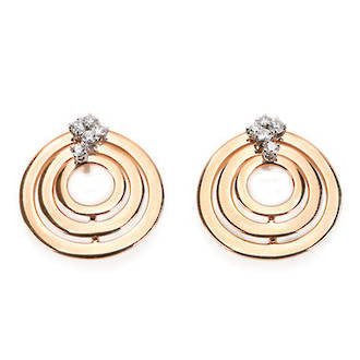 Damiani Sophia Loren Rose Gold and Diamonds Earrings