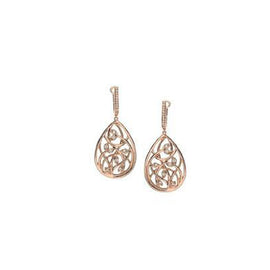 Spring 18k Rose Gold and Diamond Earrings