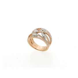 Spring Pave Rose Gold Multi Strand Ring