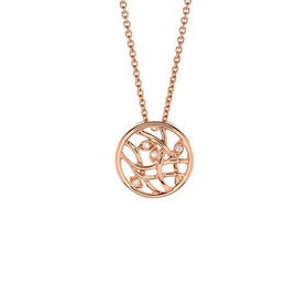 Spring Pendant in 18k White and Rose Gold with Diamonds