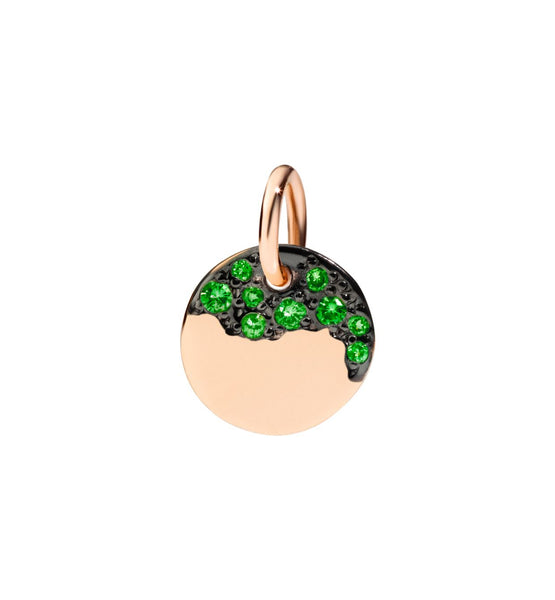 Dodo Charm in 9k Rose Gold with Tsavorites