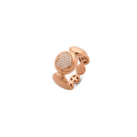Tresore Rose Gold and Pave Diamond Heart Ring