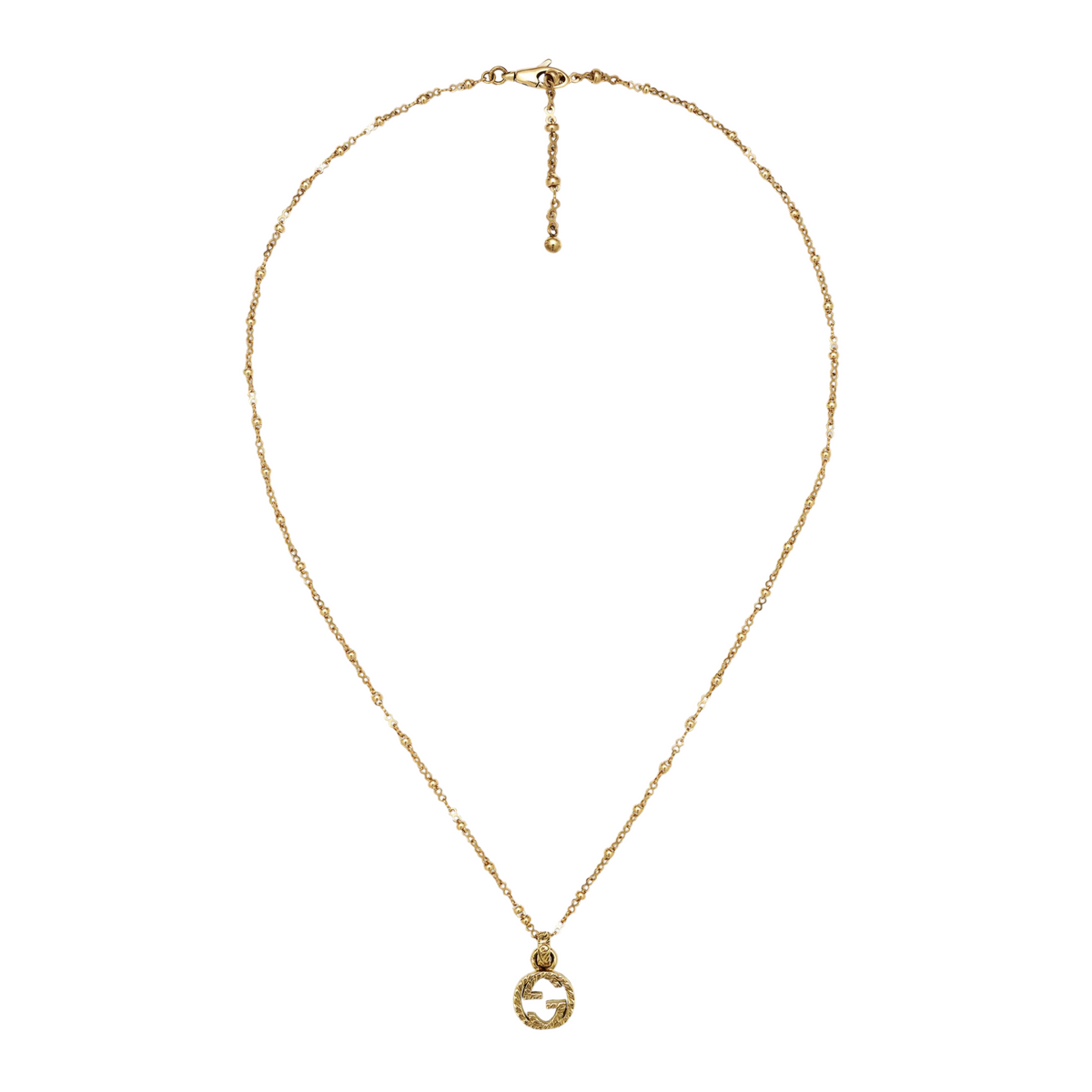 Interlocking G Necklac in 18k Yellow Gold