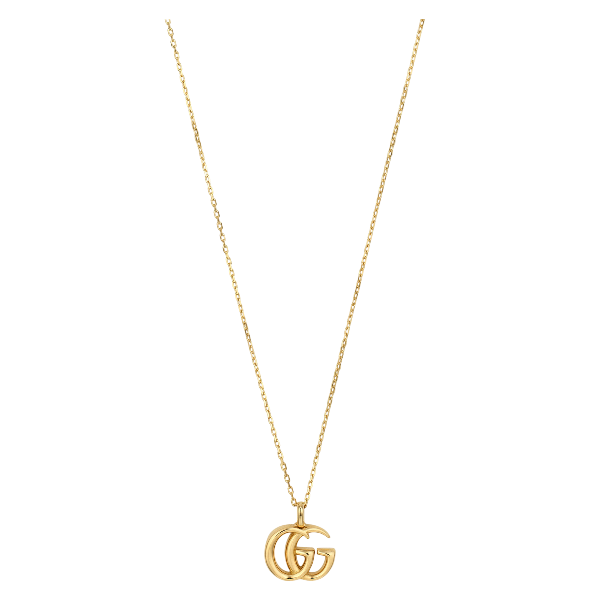 Gucci GG Running Necklace in 18k Yellow gold with Double G Pendant - Orsini Jewellers NZ