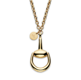 Horsebit Necklace in 18kt Yellow Gold, Length 53cm