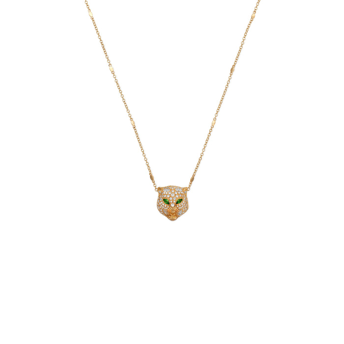 Le Marche des Merveilles Necklace in 18kt Yellow Gold, Diamonds, and Tzavorite