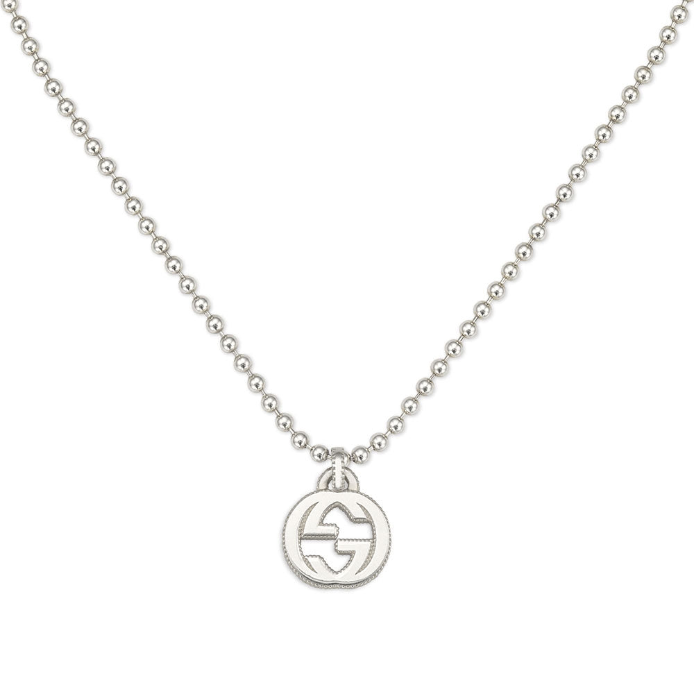 Interlocking-Sterling-silver-Necklace-Gucci-YBB479217001