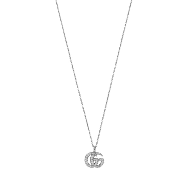 GG Running Necklace in 18kt White Gold and Diamonds (small)