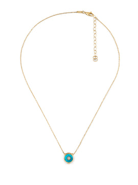 Le Marché des Merveilles Necklace in 18k Yellow Gold with Turquoise and Diamonds