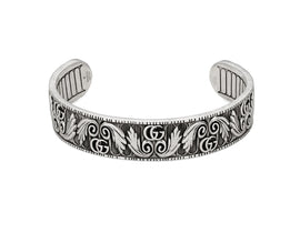 GG Marmont Cuff in Aged Sterling Silver