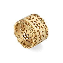 Gucci Icon Bloom Ring in 18k Yellow Gold