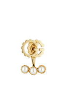 GG Running Earrings in 18k Yellow Gold with Pearls