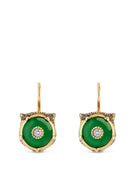 Le Marché des Merveilles Earrings in 18k Yellow Gold with Jade and Diamonds