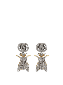 Le Marché des Merveilles Earrings in 18k Yellow and White Gold with Diamonds