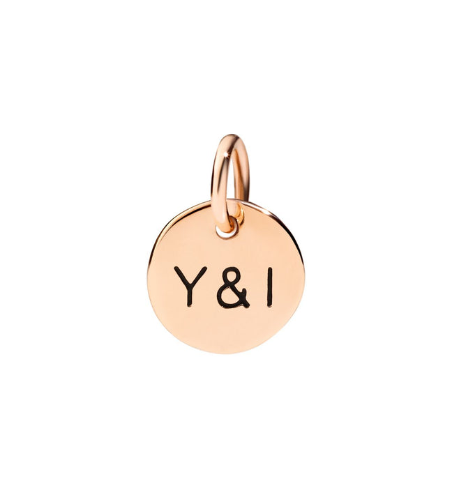 Dodo Y&I Charm in 9k Rose Gold