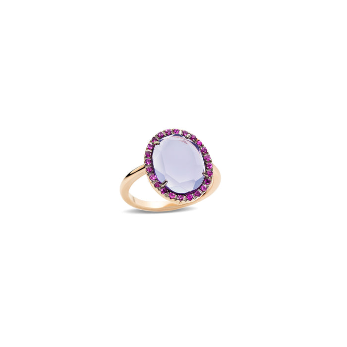 Colpo Di Fulmine Purple Amethyst and Pink Sapphire Ring