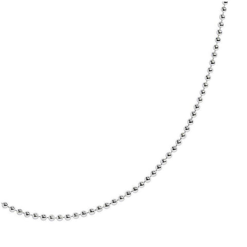 St Cuthbert's Silver 1.5mm Fine Ball Chain - 50cm