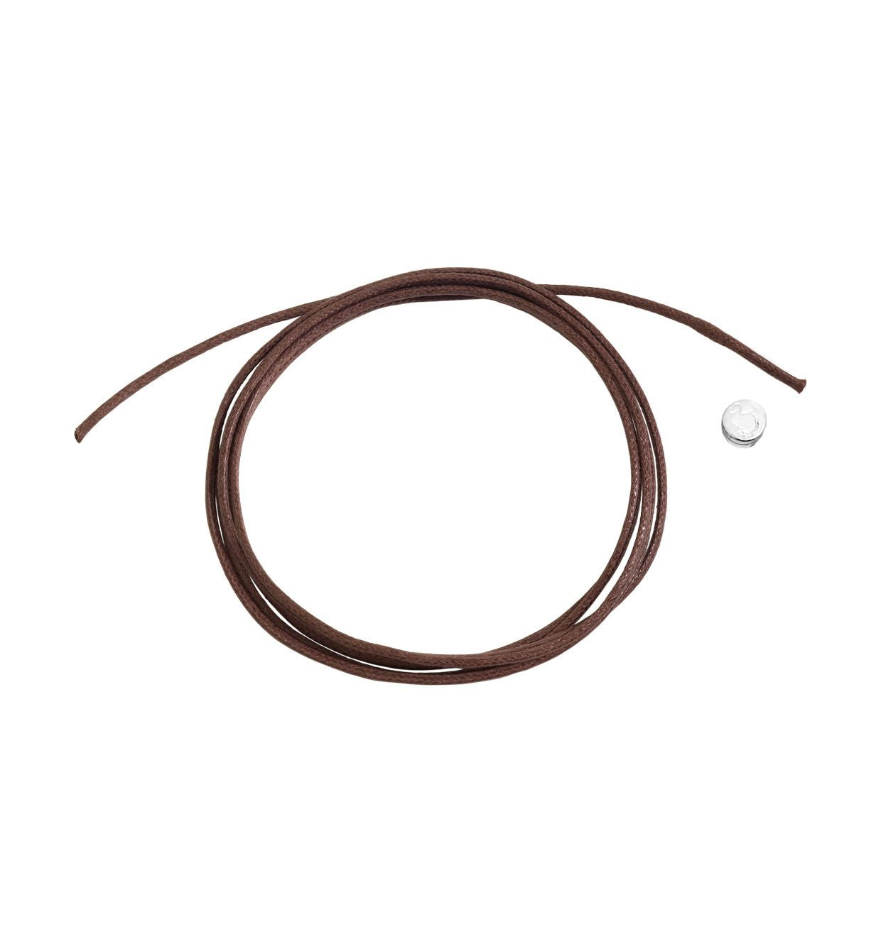 DoDo Brown Cord in Cotton with Silver Seal - Orsini Jewellers NZ