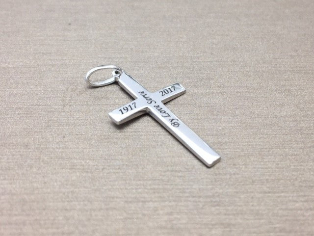 St cuthberts sterling silver engraved cross pendant aloadofball Images