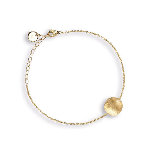 Delicati Africa Single 18k Gold Ball Bracelet