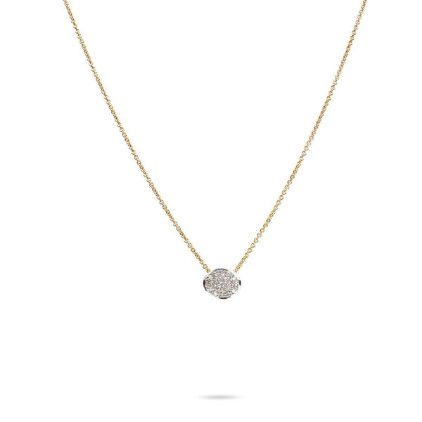 Delicati Siviglia 18k Gold Diamond Pave Circle Necklace