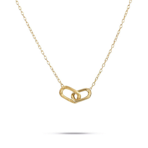 Delicati Murano Link 18k Gold Necklace
