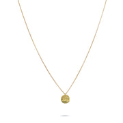 Delicati Africa Pendant with Chain in 18k Yellow Gold