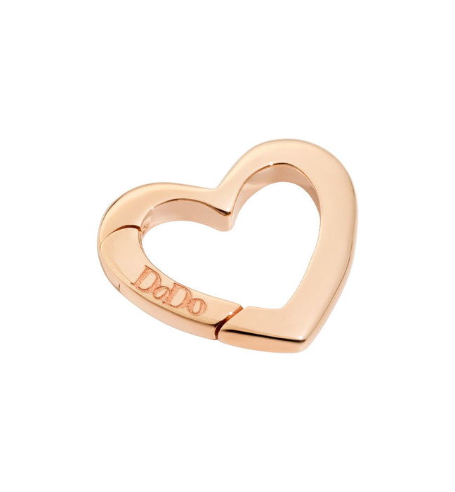 DoDo Heart Clasp in 9k Rose Gold Large