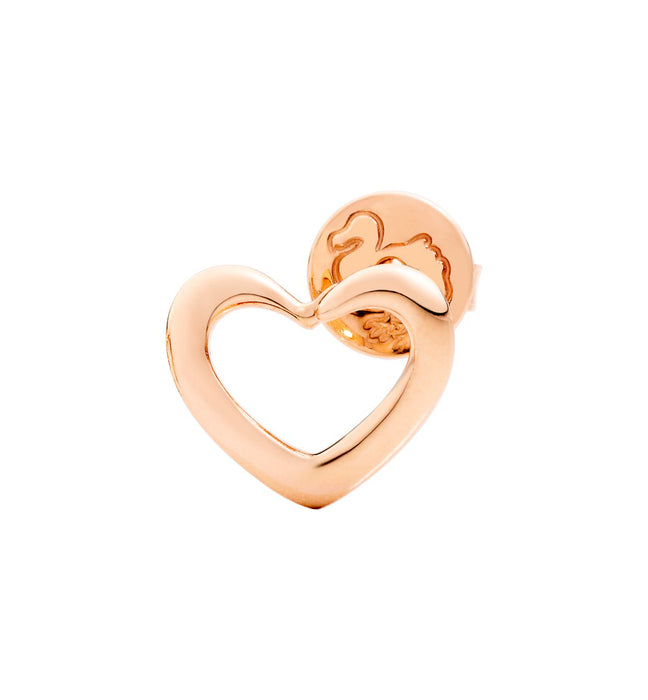 DoDo Heart Silhouette Earring in 9k Rose Gold