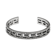 Gucci G Cube Cuff in Aged Sterling Silver