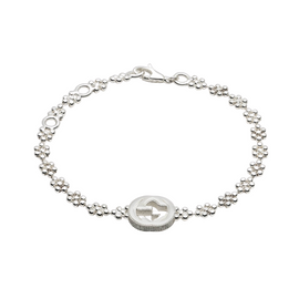 Interlocking G Bracelet in Sterling Silver