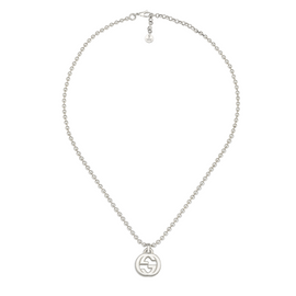 Large Gucci Interlocking G Necklace in Sterling Silver