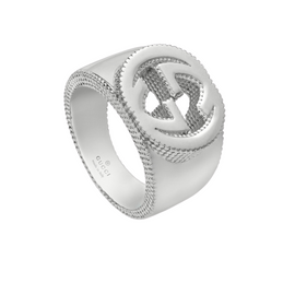 Gucci Interlocking G Ring in Sterling Silver