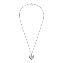 Gucci Blind For Love Necklace in Shiny Aged Sterling Silver
