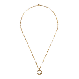 Interlocking G Necklace in Aged 18k Yellow Gold