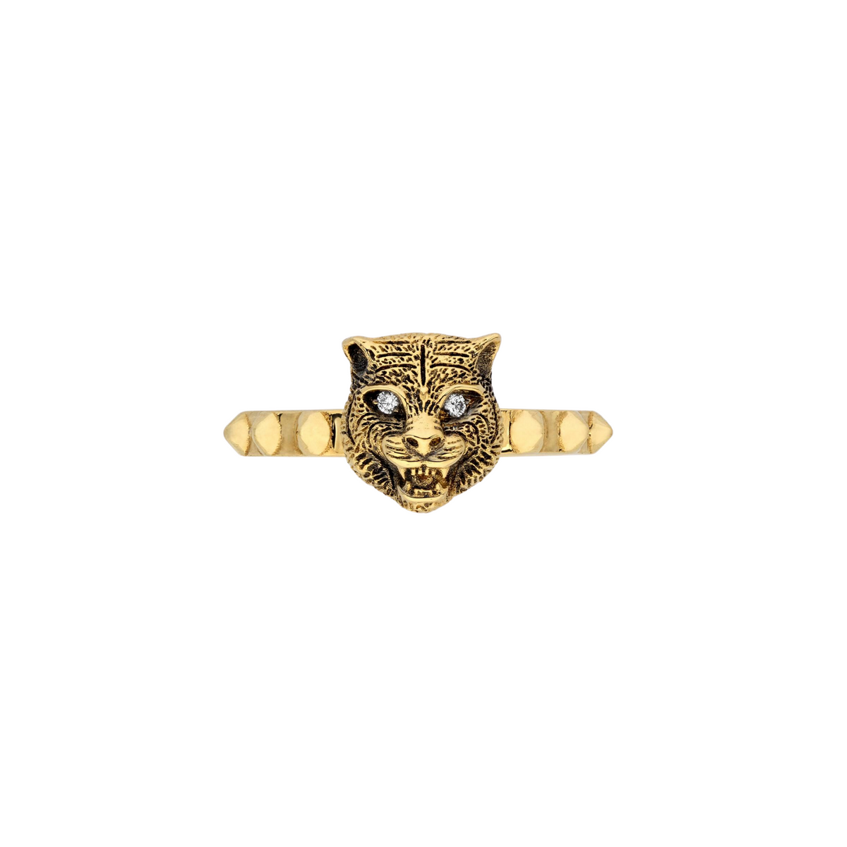 Gucci Le Marché des Merveilles Ring in 18k Yellow Gold with Diamonds