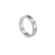 Gucci Icon Ring in 18k White Gold with Diamonds
