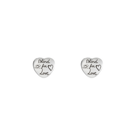 Gucci Blind For Love Earrings in Shiny Aged Sterling Silver