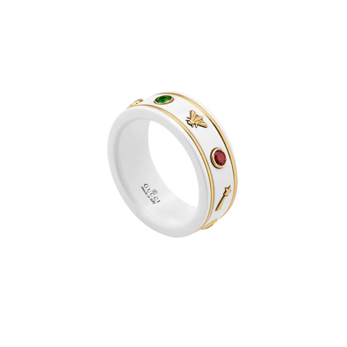 Icon Ring in 18k Yellow Gold and White Zirconia with Multicoloured Gemstones - Orsini Jewellers NZ