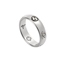 Gucci Blind For Love Ring in Shiny Aged Sterling Silver
