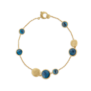 Jaipur Bracelet in 18k Yellow Gold with London Blue Topaz