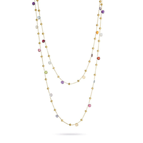 Paradise 18k Gold Single Strand Gemstone 120cm Necklace