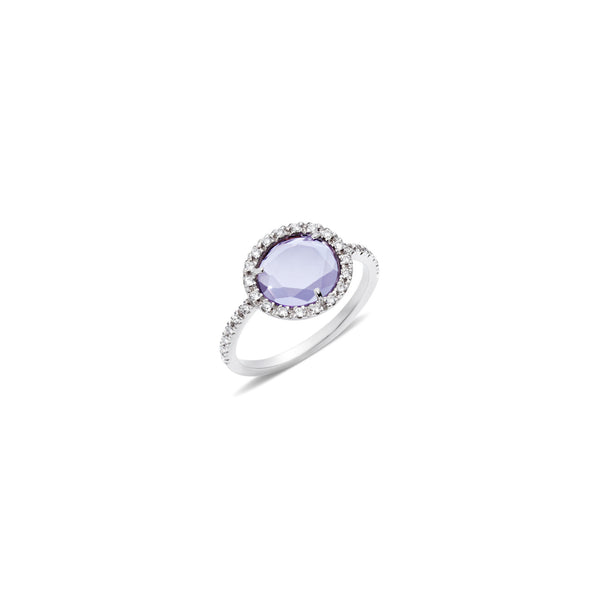Colpo Di Fulmine Purple Amethyst and Diamond Ring