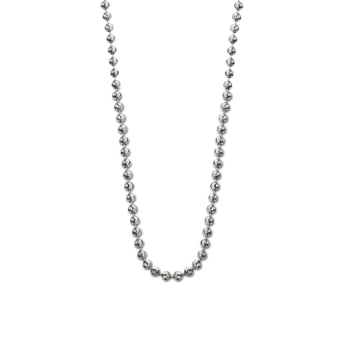 St Cuthbert's Silver 2.5mm Fine Ball Chain - 90cm