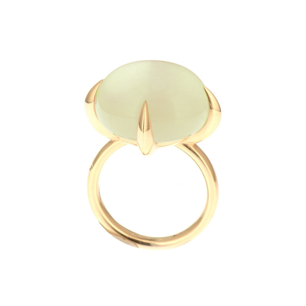 Veleno Green Prehnite Rose Gold Ring