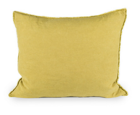 Yellow Linen Pillow Cover