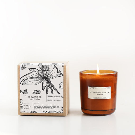 Amber Glass Soy Candle - Japanese Citrus